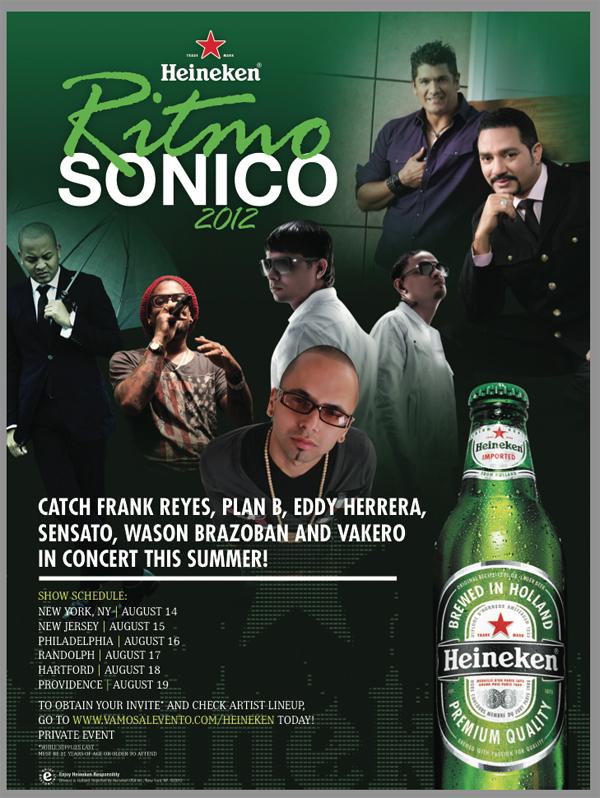 Heineken Ritmo Sonico Poster 2012