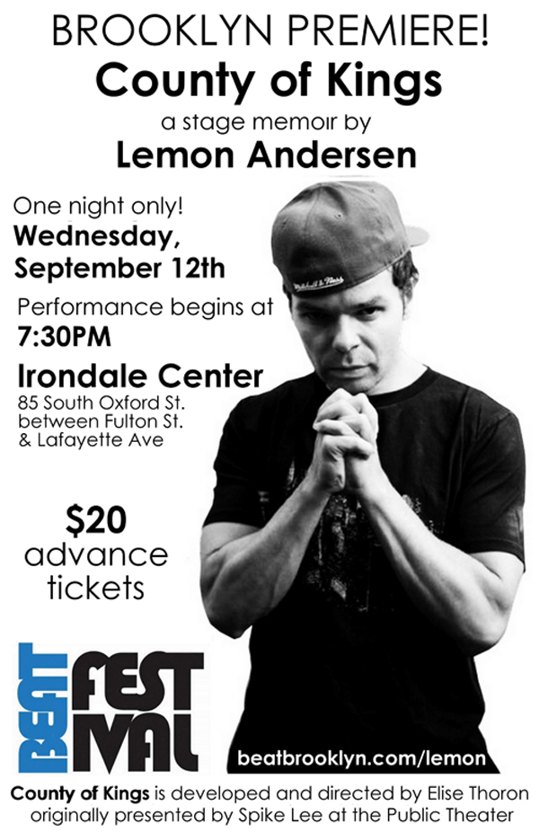 LEMON performs COUNTY OF KINGS on Sept 12th