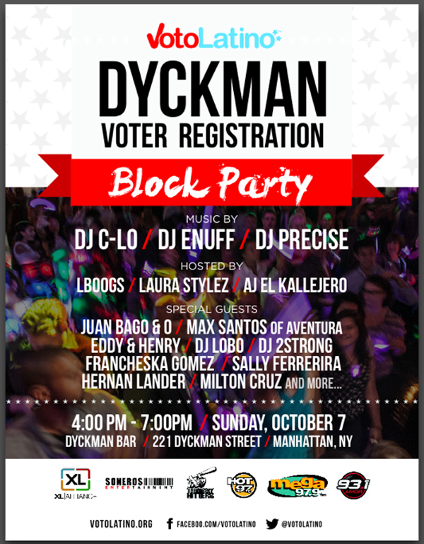 Voto Latino Voter Registration Dyckman Block Party