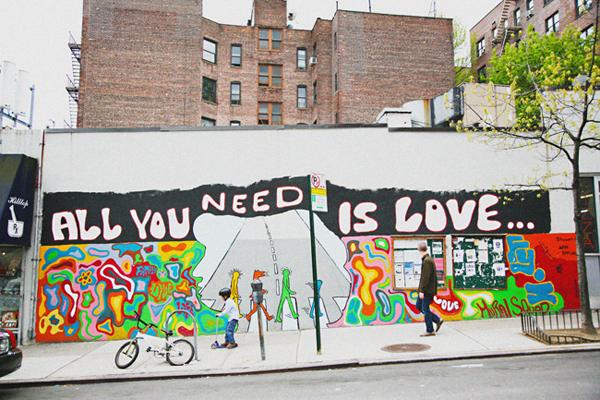 Washington Heights - All You Need is Love Mural
