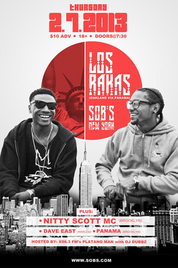 Los Rakas @ SOB's