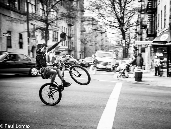 Kid on bike - Washington Heights