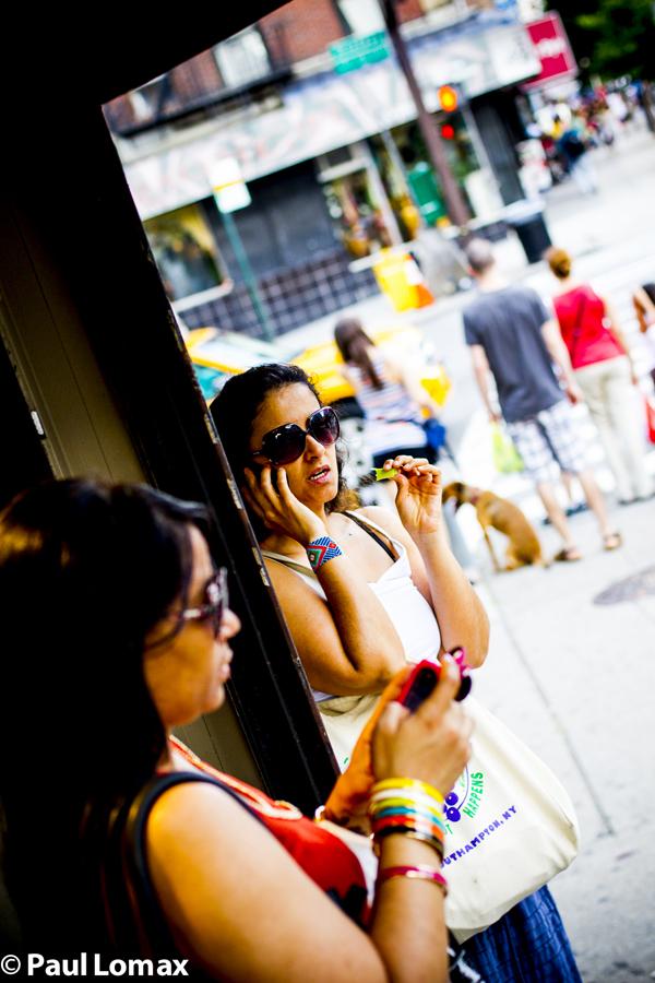 Washington Heights Women On Cell Phones