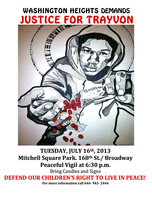 Washington Heights Demands Justice For Trayvon Martin