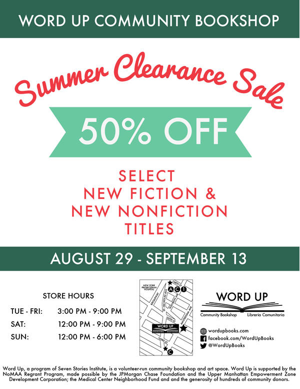Word Up Books Summer Clearance Sale
