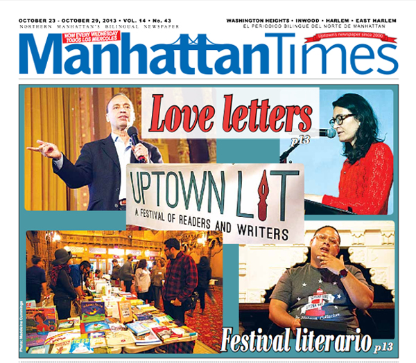Uptown Lit - Manhattan Times Cover