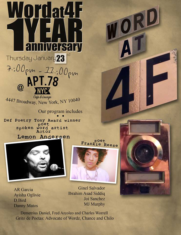 Word At 4F 1 Year Anniversary @ Apt 78