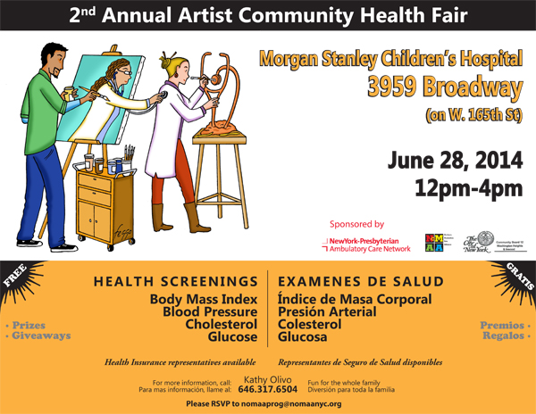 Artist Health Fair Flyer