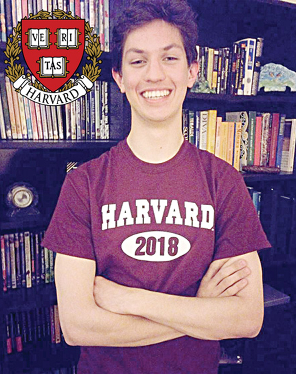 Local student Christian McArthur is headed to Harvard University.