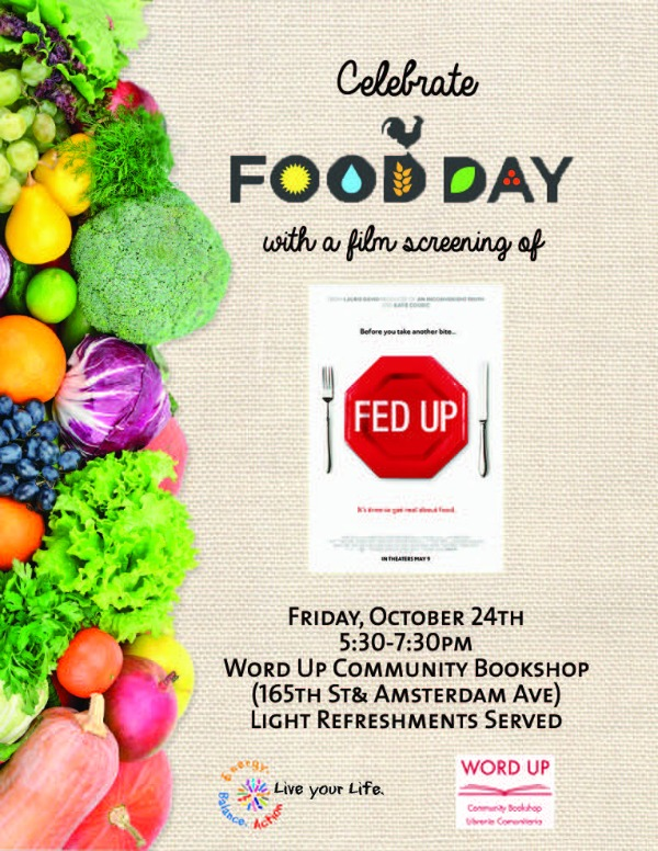 Food Day Event @ Word Up Books