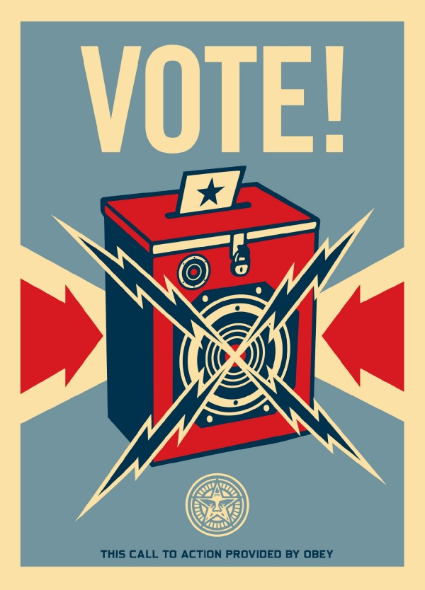 Shepard Fairey - Obey - Vote