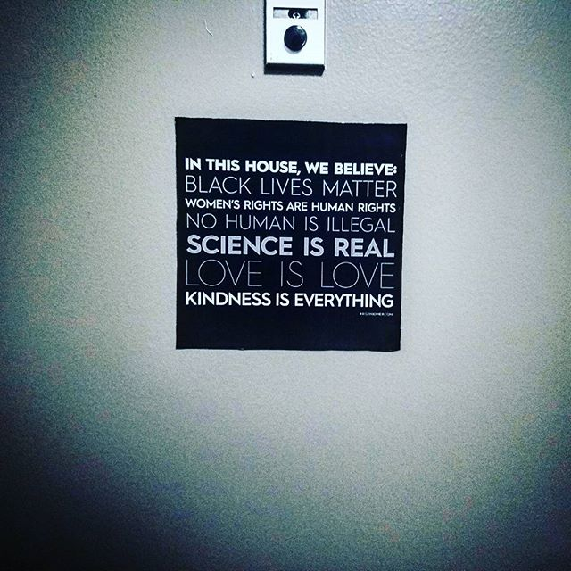 Black Lives Matter Door Sign