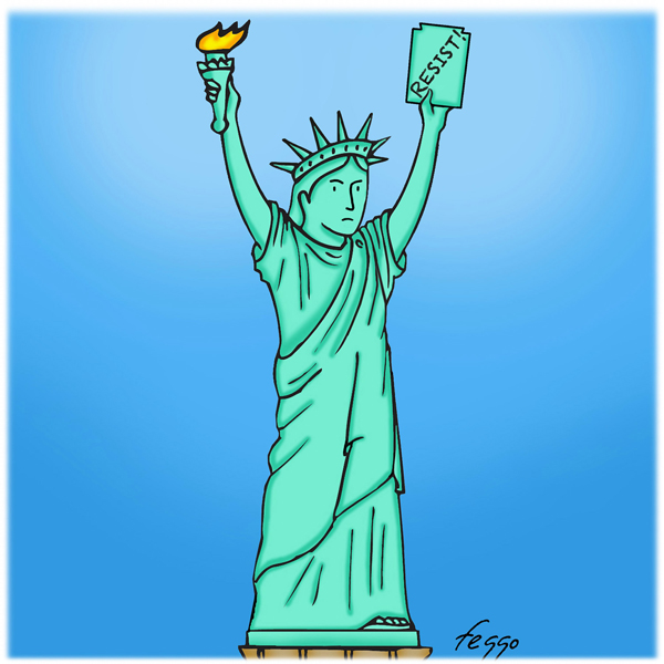 "Lady Liberty Resists by Felipe ""Feggo"" Galindo"