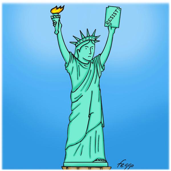 "Lady Liberty Resists by Felipe ""Feggo"" Galindo"