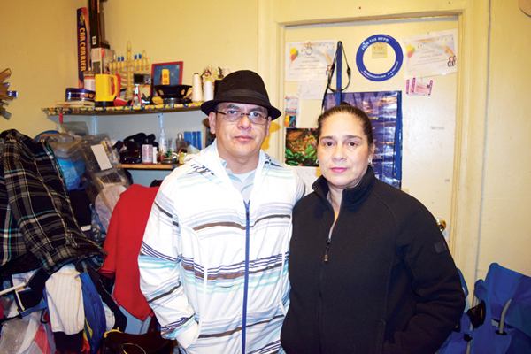 """""""We need justice,"""" says Noel Romero with his wife Alicia."""