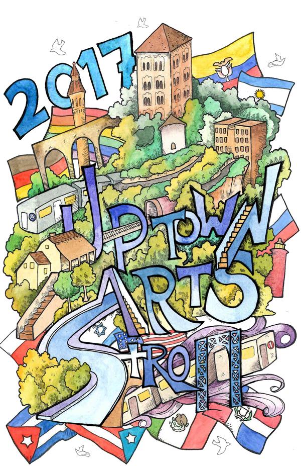 2017 Uptown Arts Stroll Poster