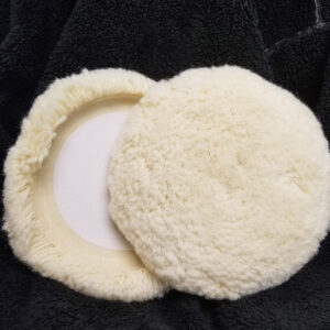 White Wool Buffing Pad – 8″