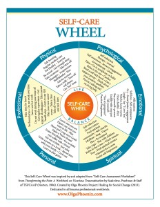 self-care wheel