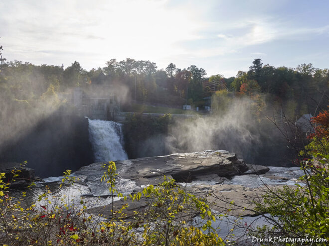 Rainbow Falls in the morning