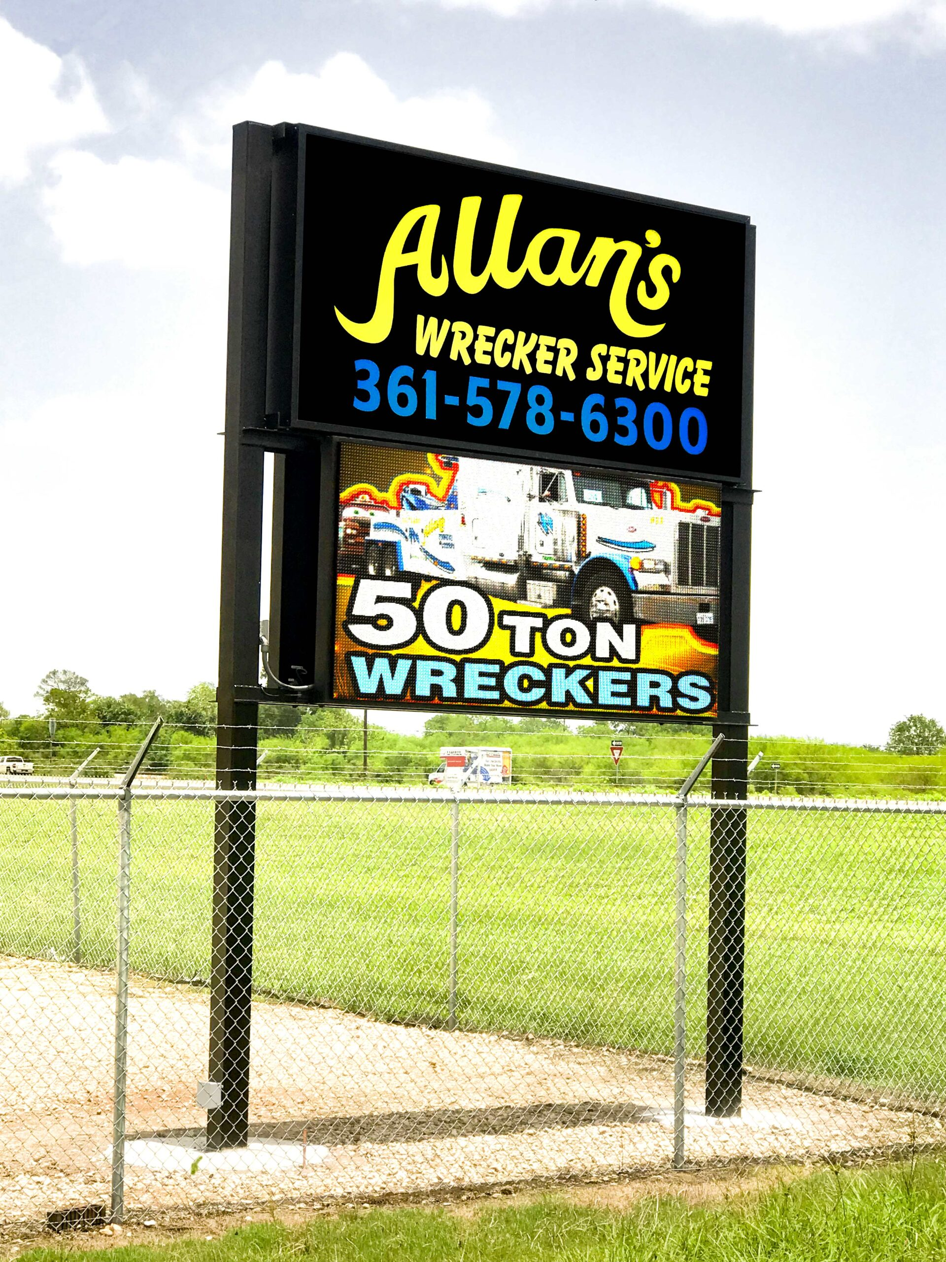 Allan's Wrecker Service 10mm LED Display Victoria TX