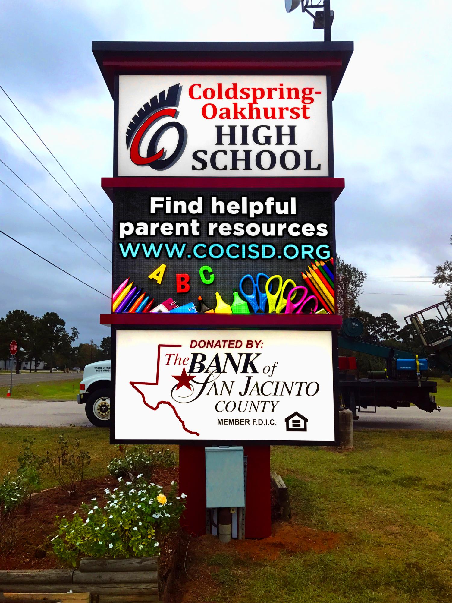 Coldspring Independent School District - LED Display