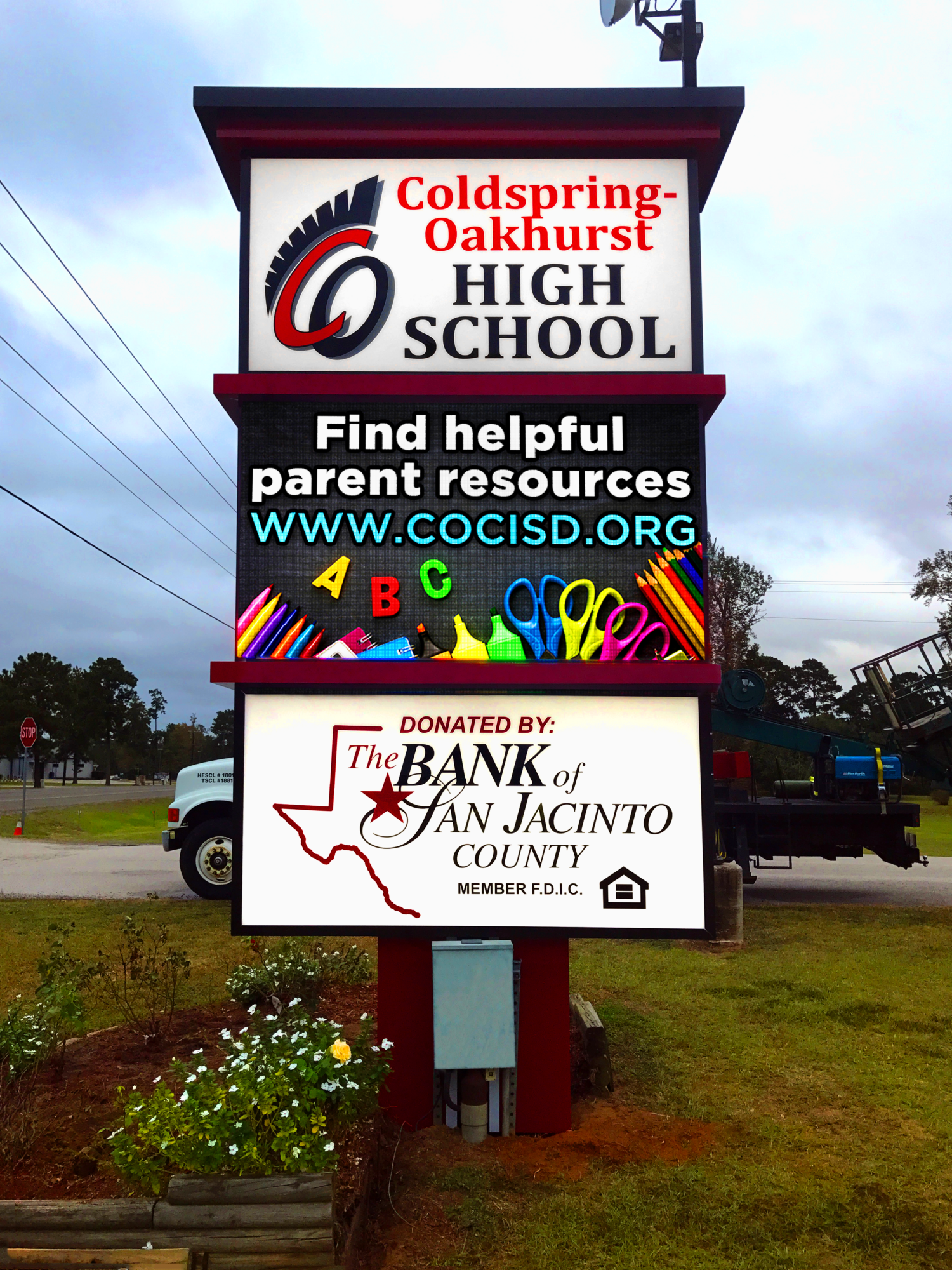 Coldspring Independent School District - LED Display