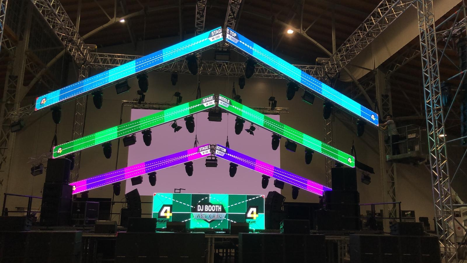4mm Concert Stage Indoor LED Displays
