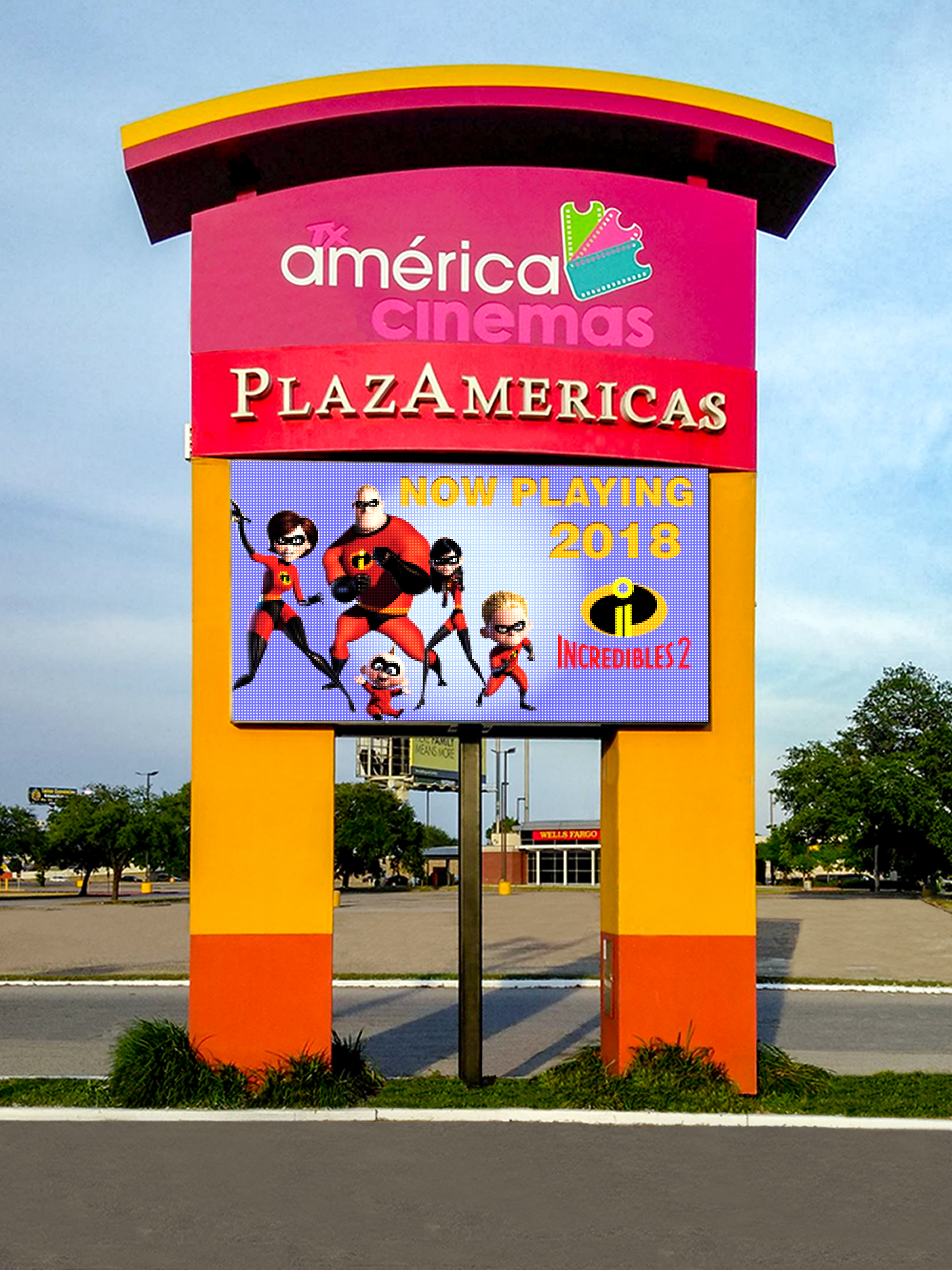 Plazamerica-Houston-TX 10mm LED Display