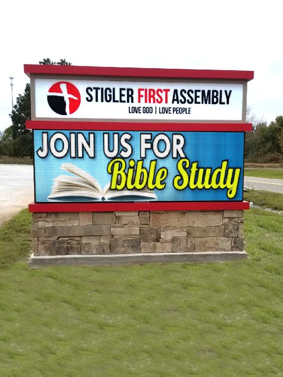Stigler First Assembly of God 10mm LED Display