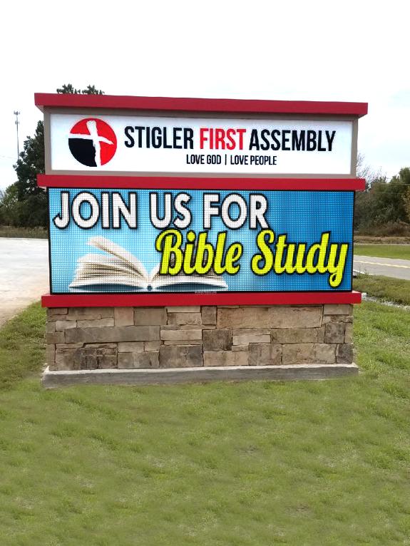 Stigler First Assembly of God 10mm LED Display