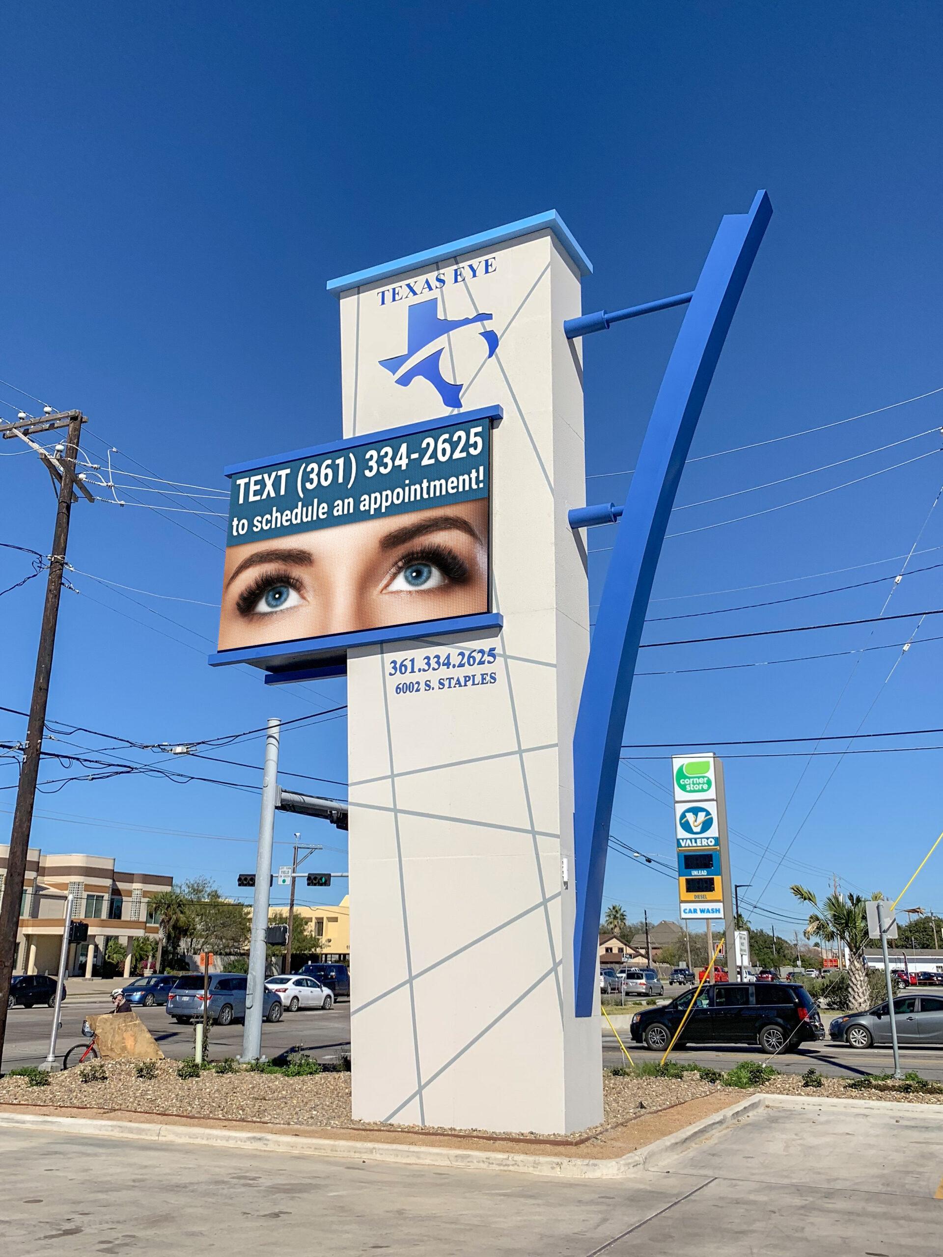 Texas-Eye-Care-Corpus-Christi-Texas-Medical-10mm-LED-Sign