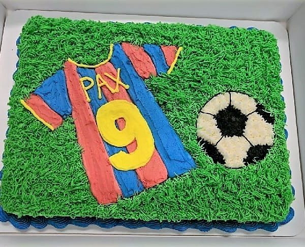 Soccer Field Sheet Cake