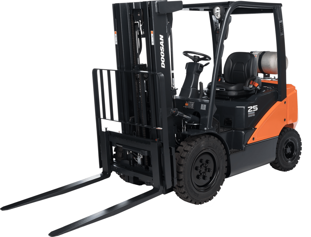 Equipment in stock, forklift