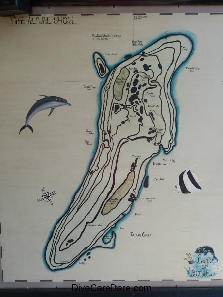 Aliwal Dive Centre-Aliwal Shoal wall map