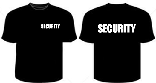 Security Small Front T-Shirt