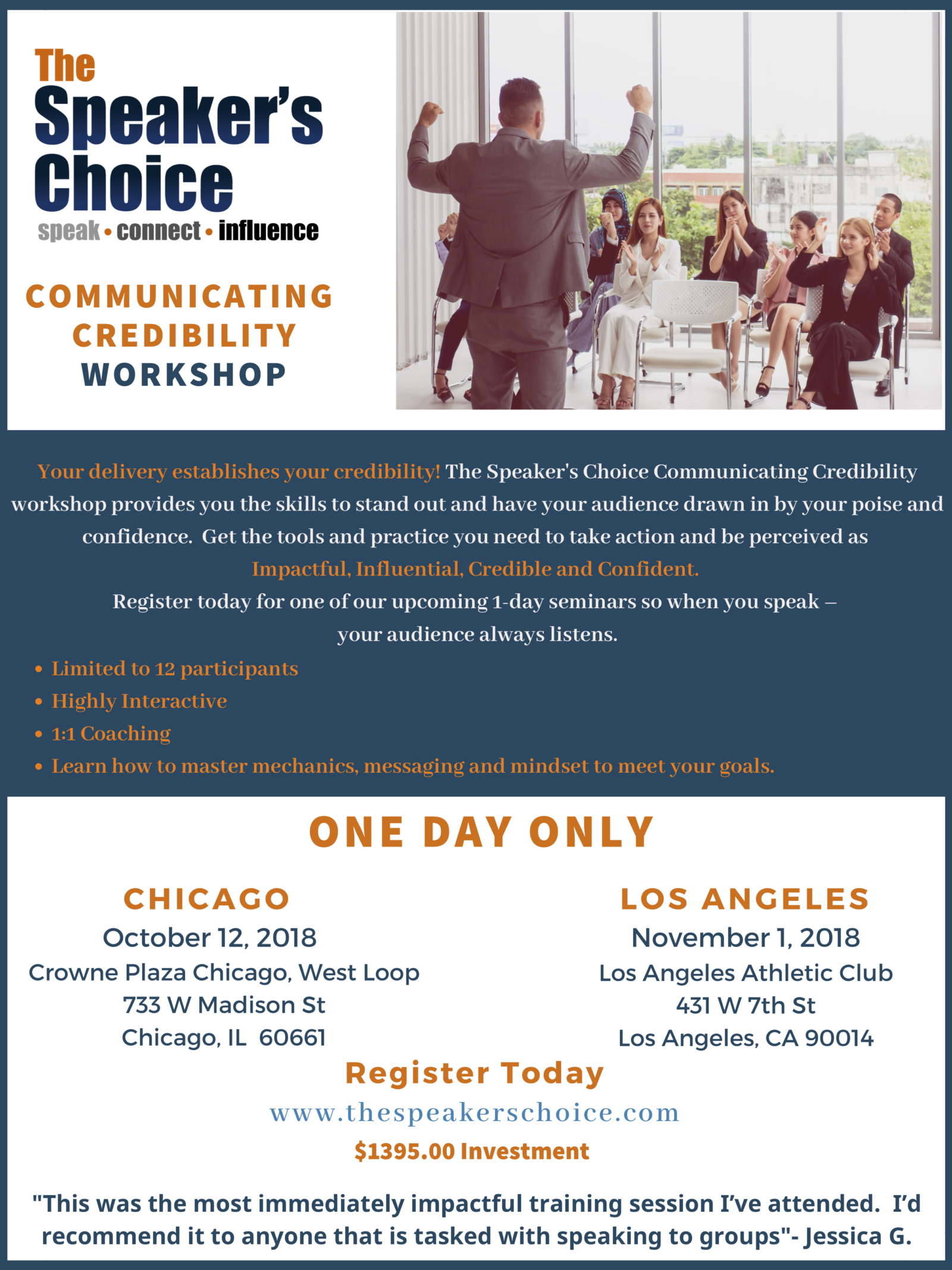 The Speaker's Choice Communicating Credibility Workshop Flyer-MASTER