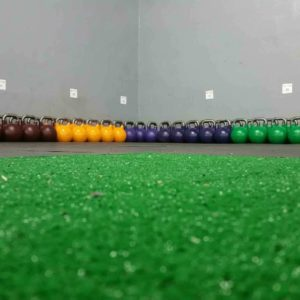 Color organized kettle bells