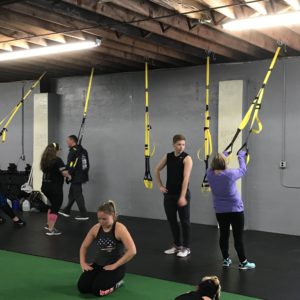 Women in group exercise