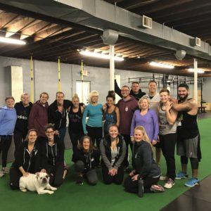 Group of people at spark fitness