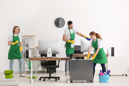 What does a commercial cleaning company do