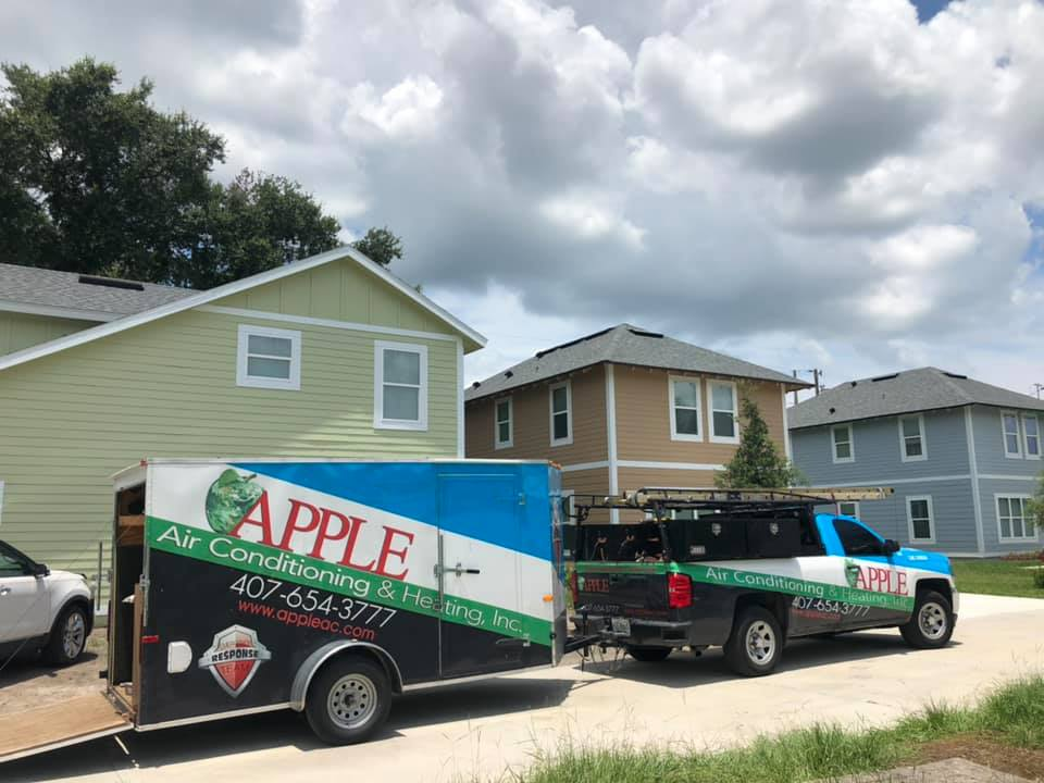 Apple Air is excited to complete our third Habitat for Humanity house in Winter Garden this week! We're thankful to work with companies like Habitat for Humanity and Johnstone Supply to help give back and support our community 🍏 #TheAppleDifference
