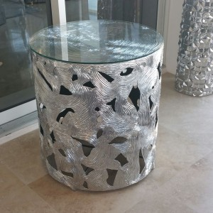 Silver Table Round