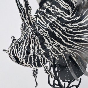Lionfish Sculpture Detail