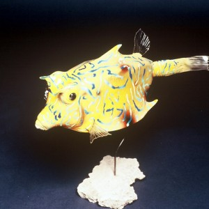 Yellow Cowfish Sculpture [approx. 16in]