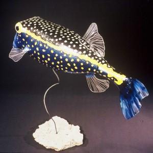 Blue Boxfish Sculpture [approx. 16in]
