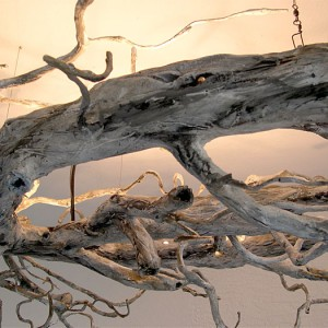 Driftwood Ceiling Light Fixture Detail