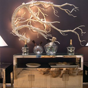 White Branch Sconce