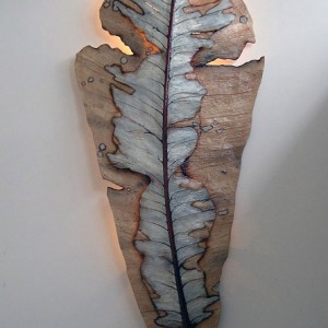 Decaying Leaf Light Sculpture [7 ft]