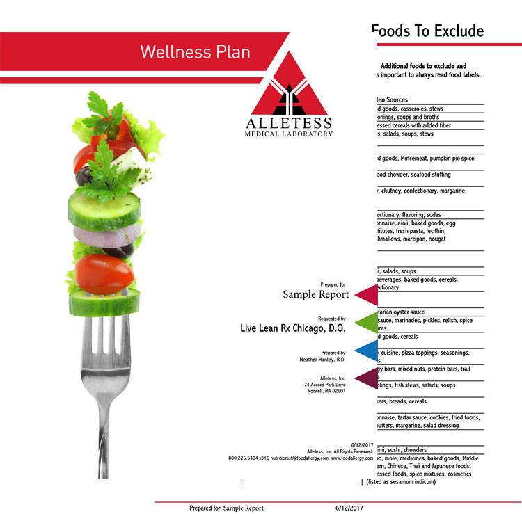 Food allergy and food sensitivity testing