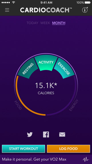 VO2 max training app mobile screenshot